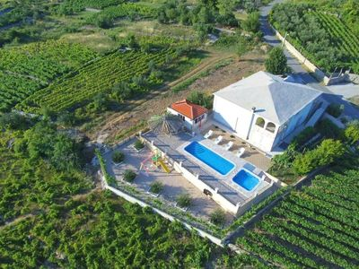 Photo for ctza132 -Villa welcomes 8 adults + 2 children, pool and jacuzzi,children's playground Wi-fi, Makarska - Vrgorac