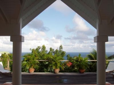 Expansive Ocean Views with Anguilla and St. Maarten Islands in the distance