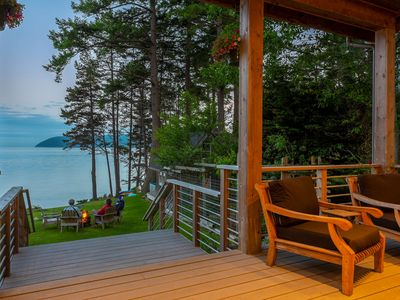 Photo for Waterfront Home with Private Beach