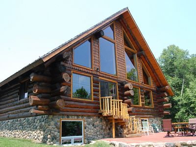 Photo for Luxurious Rustic Cabin Getaway on Loon Lake.  Built in 2013