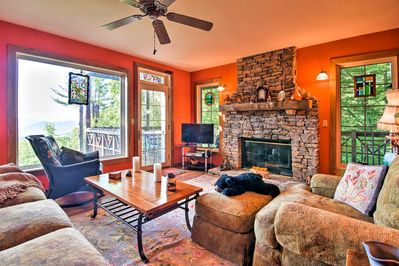 Vibrantly hued walls flows throughout each room.