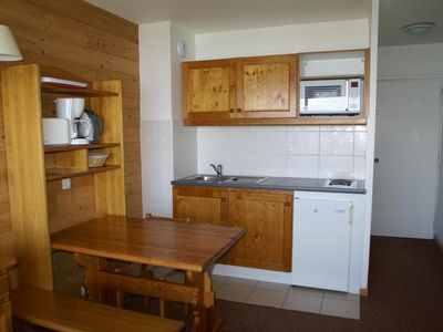 Photo for Surface area : about 18 m². Living room with bed-settee. Open-plan kitchen with kettle