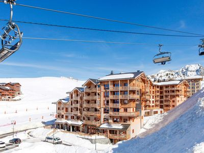 Photo for New residence on the slopes with swimming pool in La Plagne