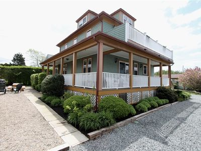 Photo for Perfect Location, walk to beach, water view deck