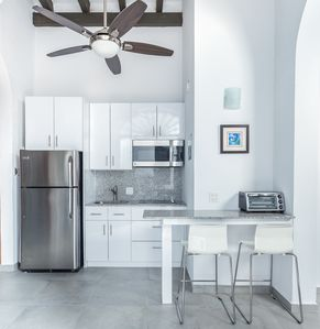 Fully renovated and stocked kitchen