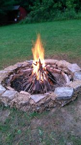 Our community campfire circle