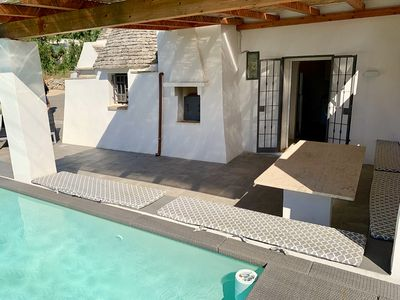 Photo for Beautiful trullo with pool and WiFi just 10 minutes from Martina Franca