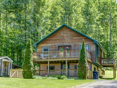 Photo for Private chalet abutting conservation hiking land walking distance from downtown