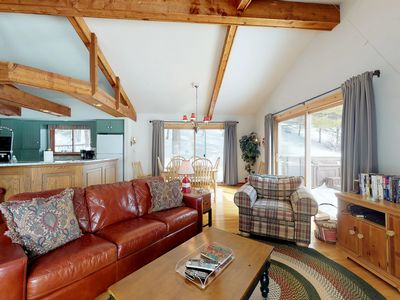 Photo for Lake view home w/ private hot tub, expansive deck-access to clubhouse amenities!