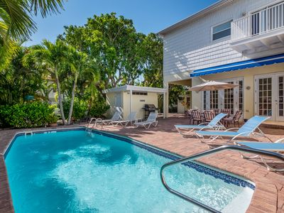 Photo for Coconut Hut: Spacious North-End Home w/Heated Pool, 1 Block to White Gulf Sands!