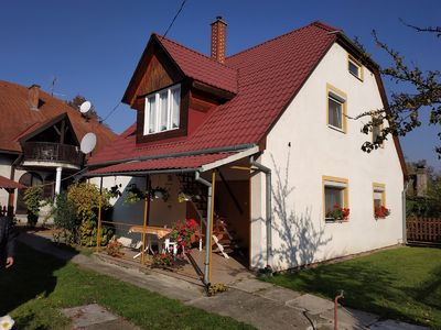 Photo for Holiday apartment at the free beach in Balatonnähe