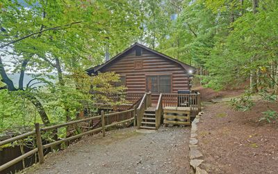 Photo for Beautiful Views, large hot tub, screened porch, pet friendly, fenced area