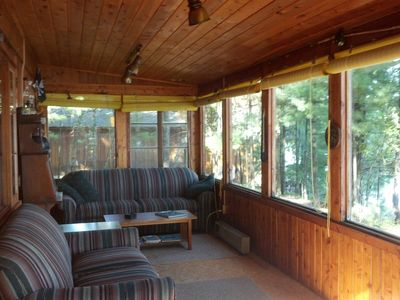Photo for Private, family-friendly, Lakefront Cottage In The Woods on Rennie Lake