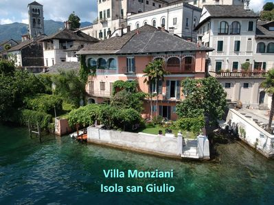 Villa Monziani, the oldest house on the island. Private boathouse, boat & garage