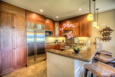 Gourmet Kitchen with upscale stainless steel appliances