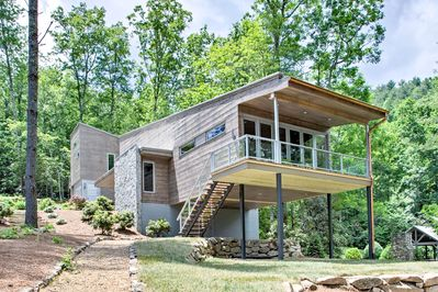 Fall in love with this lakefront Cullowhee vacation rental property!