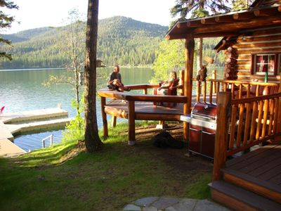 Photo for Sleeps 4 guests in main cabin, up to 9 guests with bunkhouse included