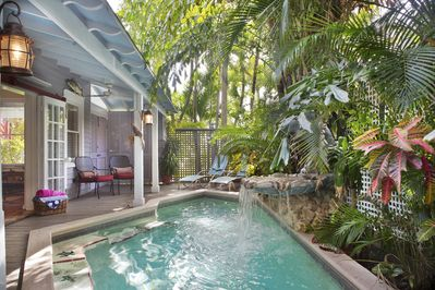 Lush tropical surroundings and tranquil waterfall - Get swept away by the lush tropical surroundings and tranquil waterfall..