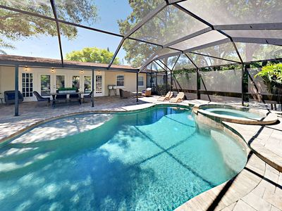 Luxe Home w/ Screened Pool & Spa - Minutes to Siesta Key Beach & Local Dining