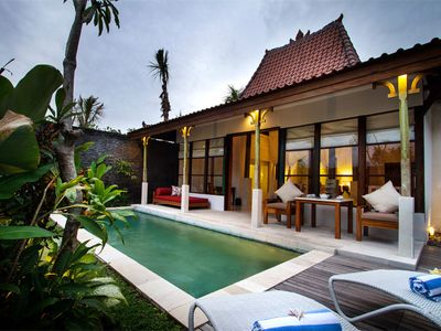 Photo for Joglo private pool villa with airport Transfer