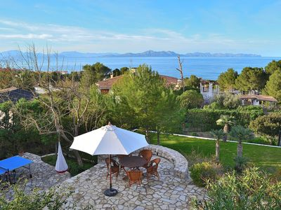 Photo for House and garden terraces, fabulous sea and mountain views. Betlem
