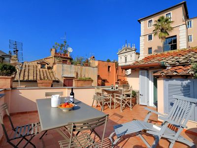 Photo for Apartment with beautiful terrace in the heart of Rome, breathtaking view of the Forums