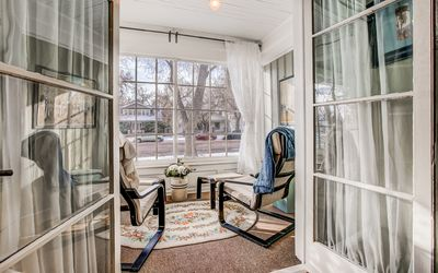 Peaceful sun porch off the master bedroom