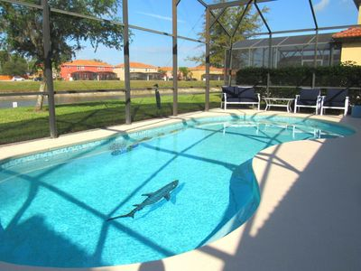 Photo for Luxury Gated Villa near to Disney with Private Lake View Pool and Games Room