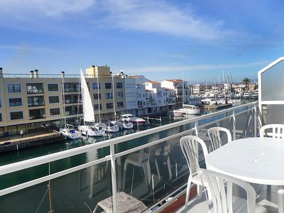 "Photo for Apartment a short walk away (336 m) from the ""Platja La Rubina"" in Empuriabrava with Parking, Washing machine, Balcony (88277)"
