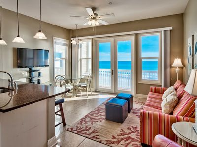 Photo for Beachfront with amazing view and King Bed- Perfect Couples Getaway in the Seaside Area