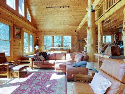 Photo for NEW LISTING! Beautiful cabin w/private hot tub & forest views, quiet location