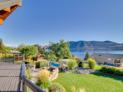 Photo for Lake views, a pool/hot tub, basketball court, and more!