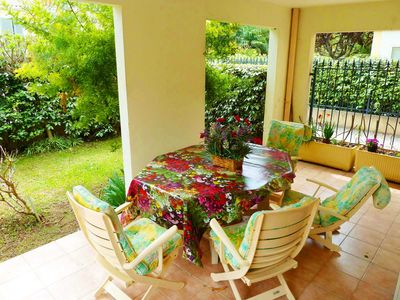 Photo for T2 with garden and terrace, heart of downtown, air conditioning / garage / wifi