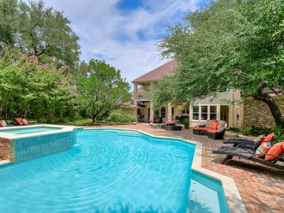 Photo for ARRIVE AUSTIN COUNTRY CLUB ESTATE | Up to 12Beds | 4 MI to DWTN | Pool/Spa