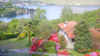 Photo for Villa with garden  beatiful lake wiew, only 3 Kilometers to Orta S.Giulio