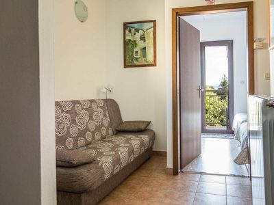 Photo for One bedroom apartment with balcony and sea view Matulji, Opatija (A-17534-b)