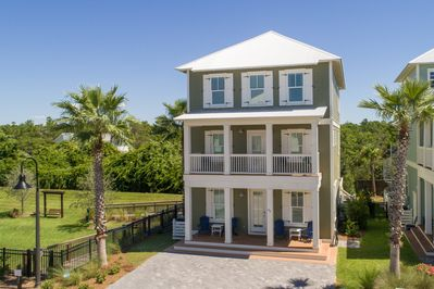 Escape to this beautiful three-story, five-bedroom, four-and-a-half bath home.