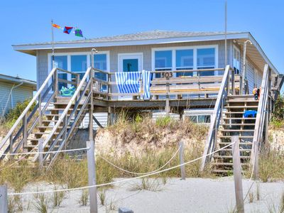 Photo for Wonderful Cottage on the Oceanfront of Family-Friendly Holden Beach !