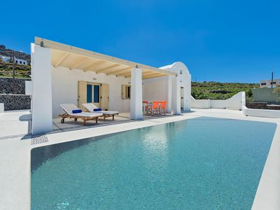 Photo for Villa Serenity Santorini Island, 3 Bedrooms 3 Bathrooms, Private Pool, Up to 6 Guests, very close to the central square with the shops and restaurant