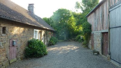 Photo for Spacious Old Cottage with Play Barn and view of Chateau in Normandy Countryside