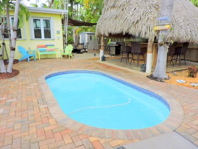 Photo for Tiki Getaway 3/2 for 10 Heated Pool, Tiki Hut, Bar, Grill, Tropical Paradise