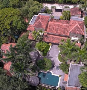 Aerial view of the only 2 lot beach front estate in the area