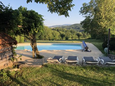 Photo for Les Olières: old farmhouse, fully renovated, 100 privacy, exceptional location.