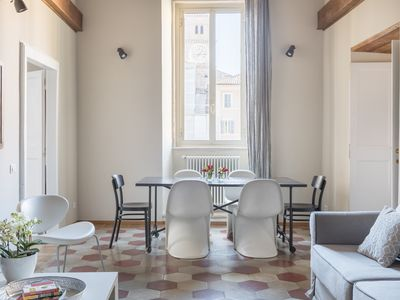 Photo for Trastevere beautiful design apartment with terrace and spectacular view