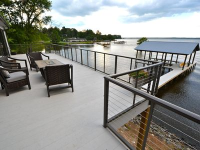Photo for Fresh, Contemporary Lake House with Gourmet Kitchen and 2 Boat Slips