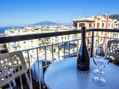 Photo for Sorrento Coast central apartment with amazing view and private balcony