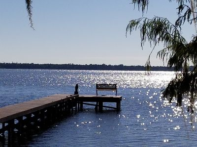 Photo for Gorgeous Lake Front Secluded Hideway on Lake Marion. Boat, Jet Ski or go Fishing
