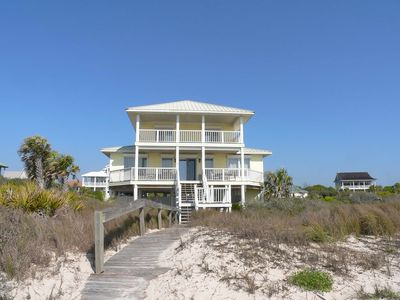 "Photo for Ready After Hurricane Michael! Kick Back at this Upscale Beachfront Plantation Home, Pets too! Hot Tub, Free Beach Gear, 5BR/3.5BA ""Barefoot Bungalow"""