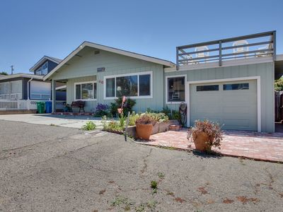 Photo for Comfy oceanside home w/ views & yard - walk to beach & bring the dogs!