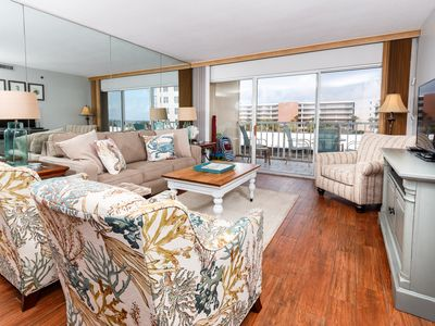 """Photo for """"Sea Oats Unit 408"""" Charming Southern Style Condo on the beach - partial gulf views"""